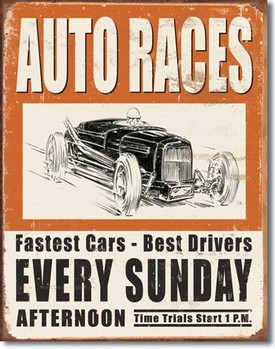 метална табела VINTAGE AUTO RACES