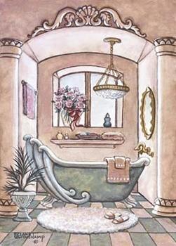 Vintage Bathtub ll Festmény reprodukció