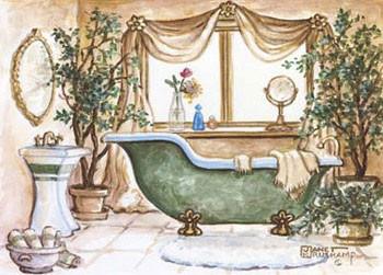 Vintage Bathtub lll Festmény reprodukció