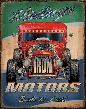 Vintage Motors Metalen Wandplaat