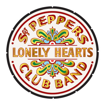 BEATLES - pepper drum Vinylklistermärken