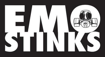 EMO STINKS Vinylklistermärken