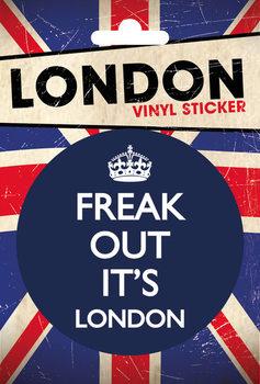 LONDON - freak out Vinylklistermärken