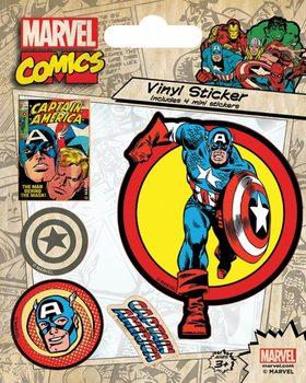 Marvel Comics - Captain America Retro Vinyl klistermærker