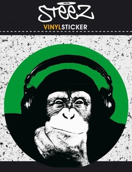 STEEZ MONKEE Vinyl klistermærker