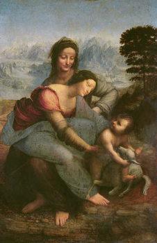 Reproducción de arte  Virgin and Child with St. Anne, c.1510 (oil on panel)