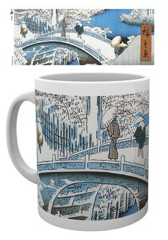 Hiroshige - The Drum Bridge Skodelica