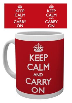 Keep Calm And Carry On Skodelica