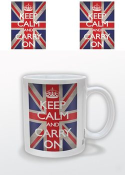Keep Calm and Carry On - Union Jack Skodelica