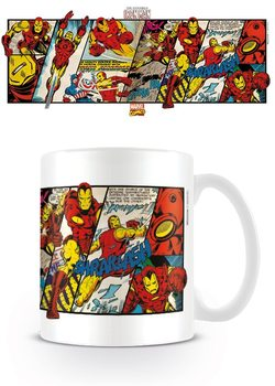 Marvel Retro - Iron Man Panels Skodelica