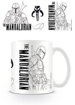 Skodelica Star Wars: The Mandalorian - Line Art