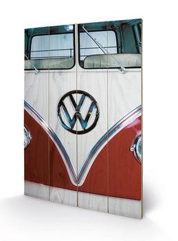 Poster su legno VW - Red
