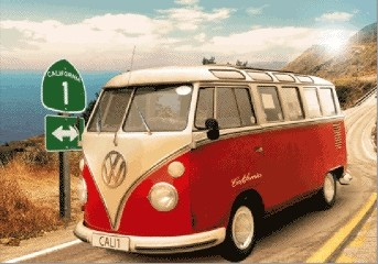 VW Volkswagen Californian Camper  - плакат (poster)
