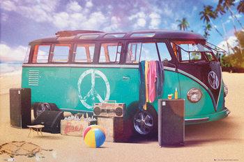 VW Volkswagen Camper - party - плакат (poster)