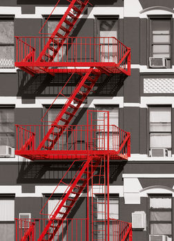 FIRE ESCAPE Poster Mural