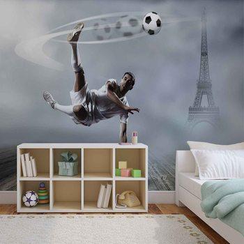 Joueur de football Paris Poster Mural