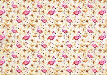 Motif Flamant Roses Oiseaux Poster Mural