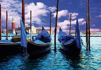 Ville de Gondole de Venise Poster Mural