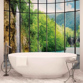 Vue paysage tropical Poster Mural