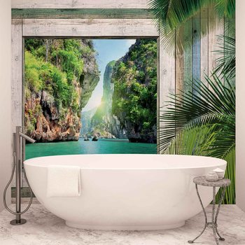 Vue Plage Tropical Poster Mural