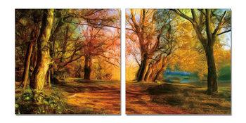 Wandbilder Colored forest