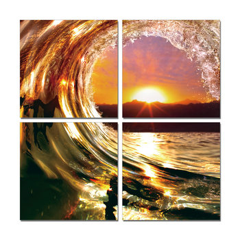 Wandbilder Falling Wave - Sunset