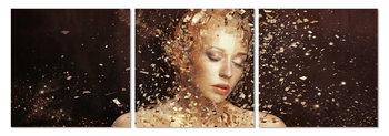 Wandbilder Female - Gold dusting