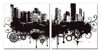 Wandbilder Modern Design - City in Clouds