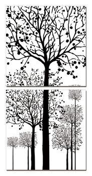 Wandbilder Painted Trees