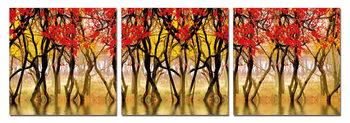 Wandbilder Red leaves