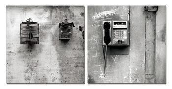 Wandbilder Street Art Photo Industrial (B&W)