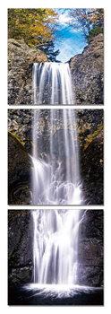 Wandbilder Waterfall under a blue sky