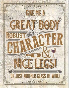 Metalen wandbord Another Glass of Wine