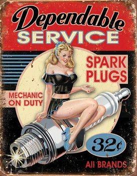 Metalen wandbord Dependable Service