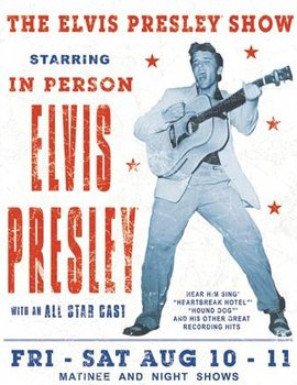 Metalen wandbord Elvis Presley - Show