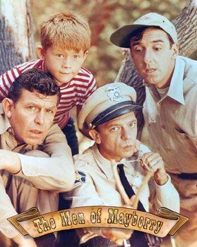Metalen wandbord Griffith - Men of Mayberry