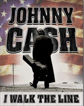 Metalen wandbord Johnny Cash - Walk the Line