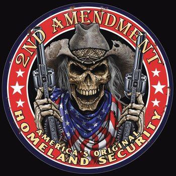 Metalen wandbord Tin Sign -2nd Amendment