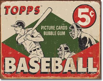 Metalen wandbord TOPPS - 1955 Baseball Box