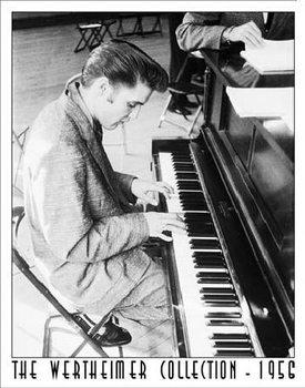 Metalen wandbord WERTHEIMER - ELVIS PRESLEY - Playing Piano