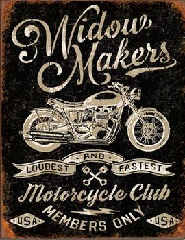 Metalen wandbord Widow Maker's Cycle Club