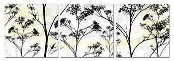Wild Flower Silhouette Moderne billede