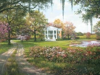Wild Rose Manor Festmény reprodukció