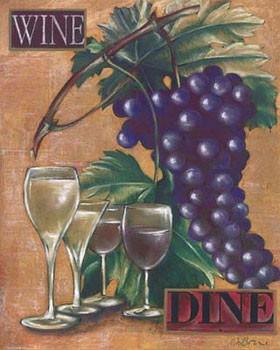 Wine & Dine I Festmény reprodukció