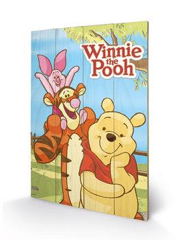 Poster su legno Winnie the Pooh - Shoulders