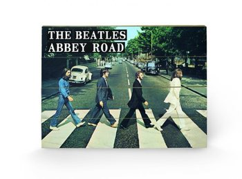 Dřevěný obraz - BEATLES - abbey road