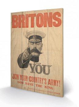 Obraz na dřevě - IWM - britons