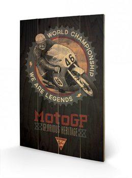 Obraz na dřevě - MOTO GP - legends