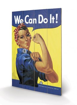 Dřevěný obraz - We Can Do It! - Rosie the Riveter
