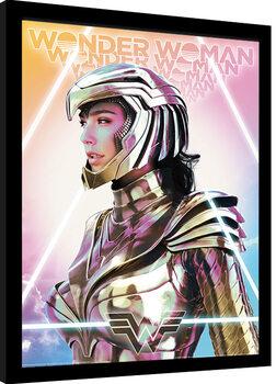 Πλαισιωμένη αφίσα Wonder Woman 1984 - Psychedelic Transcendence